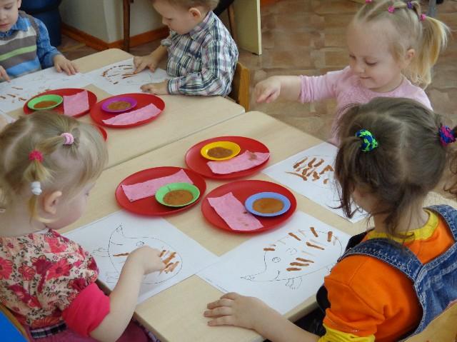 Детский сад рисуем городецкую роспись